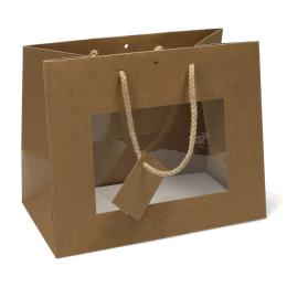 Shopper Carta kraft Window cm 16x14+8