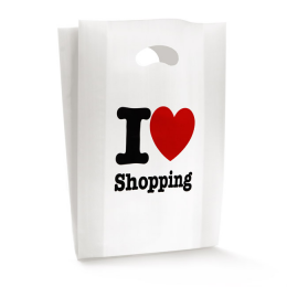 Shopper Plastica I Love Shopping cm 25+10x40